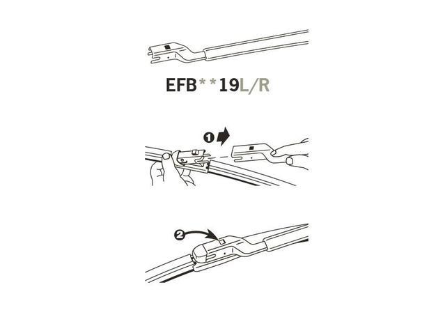 Trico Exact Fit FZ Beam Wiper Blade 400mm EFB4019R Sparesbox - Image 3